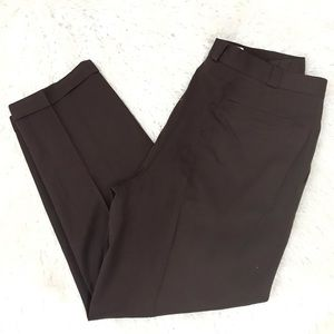 Gianni Versace vintage brown cuffed dress pants 56